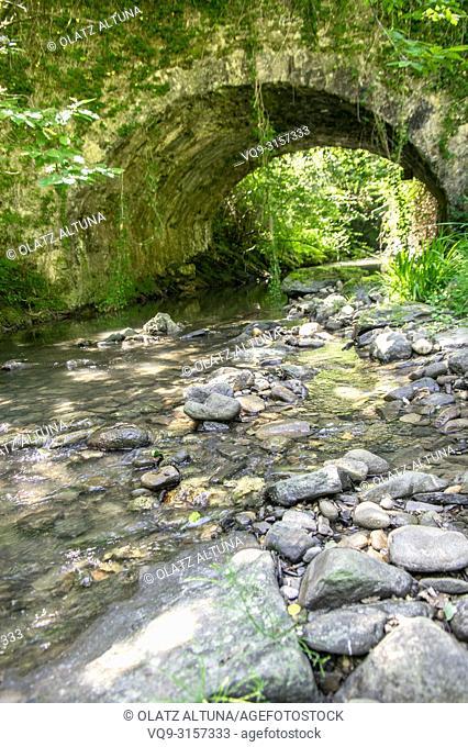 Bridge over Aratz Erreka river, Urrestilla, Gipuzkoa, Basque Country