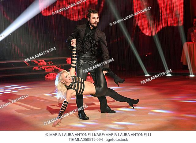 Dani Osvaldo during the performance at the tv show Ballando con le stelle (Dancing with the stars) Rome, ITALY-04-05-2019