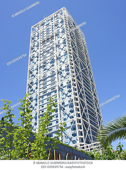 Tower of the Olympic Village of Barcelona, Catalunya, Spain