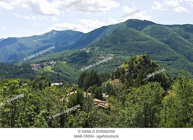 village partial view, pregola, italy