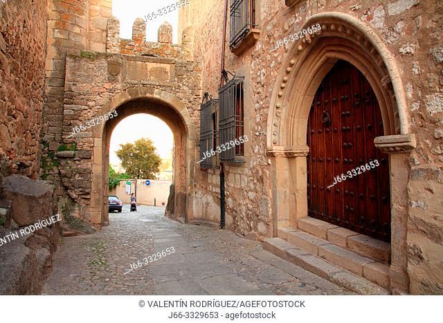Door of Santiago in Trujillo. Cáceres