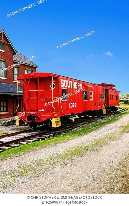 Red Caboose at the Tuscumbia Railways Museum in Alabama