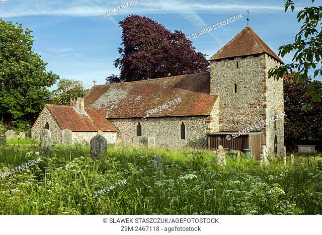 Spring afternoon at St Michael's church in South Malling, Lewes, East Sussex, England