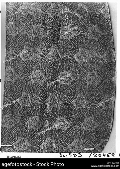 Piece. Manufactory: Lazareff; Date: 18th century; Culture: Russian (Moscow); Medium: Silk and metal thread; Dimensions: L. 38 x W. 19 3/8 inches (96
