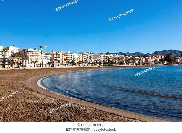 Beach in Puerto de Mazarron, Spain