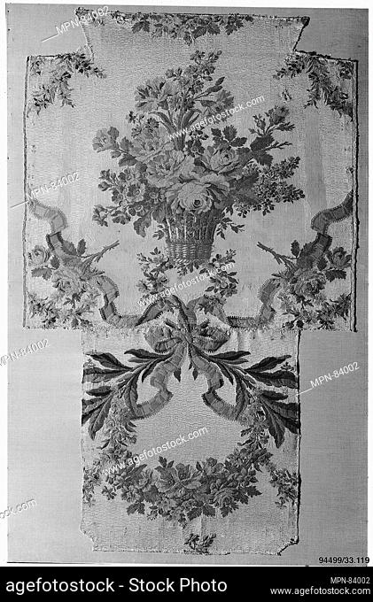 Woven silk upholstery for a chair. Designer: Philippe de Lasalle (French, 1723-1804); Manufacturer: Maison Pernon; Date: ca