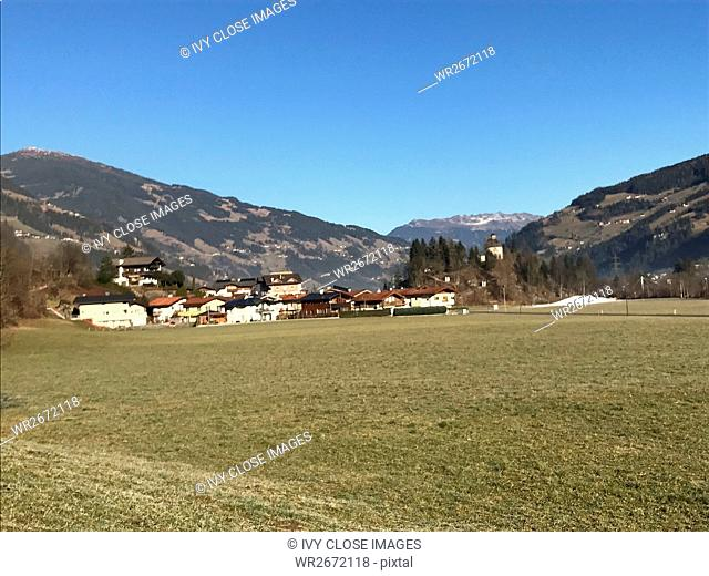 This photo, taken in December 2016, shows a view of the Ziller Valley from Mayrhofen. The area is in the Tirol of Austria