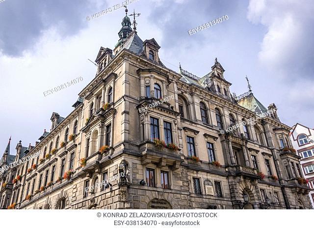 City Hall building on a Boleslaw Chrobry Square in Klodzko town, Lower Silesian Voivodeship of Poland