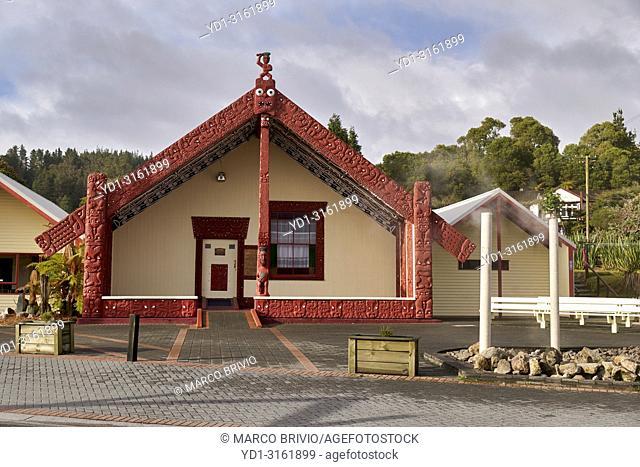 Whakarewarewa Maori Thermal Living Village. Rotorua New Zealand