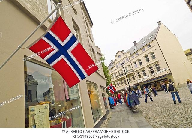Tradtional Architecture, Alesund, Norway, Scandinavia, Europe