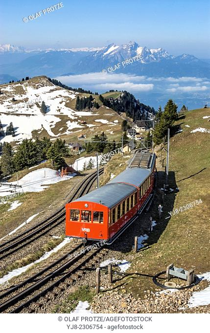 Rigi train, run by Rigi Railways, Switzerland. (Rigi-Bahnen
