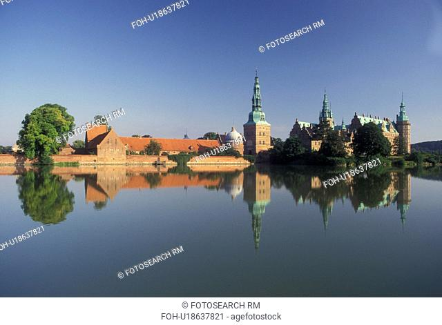 castle, Denmark, Hillerod, Scandinavia, Sjaelland, Europe, Frederiksborg Castle a national historical museum