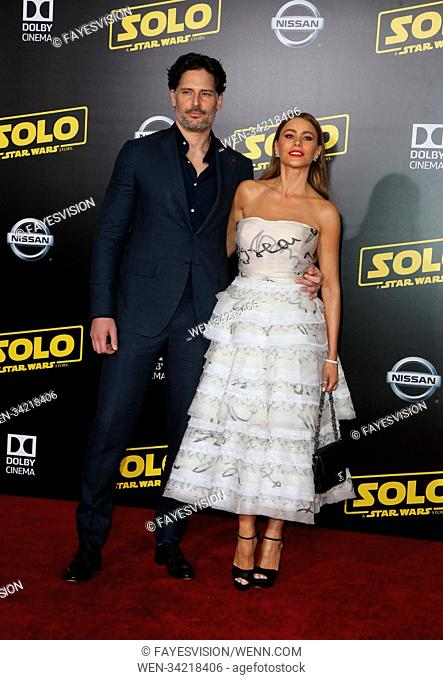 """Premiere Of Disney Pictures And Lucasfilm's """"""""Solo: A Star Wars Story"""""""" Featuring: Joe Manganiello, Sofía Vergara Where: Hollywood, California"""