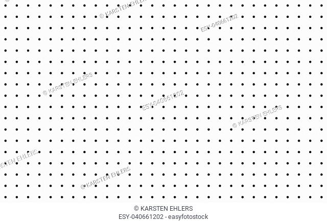 Seamless raster made of black dots on white background