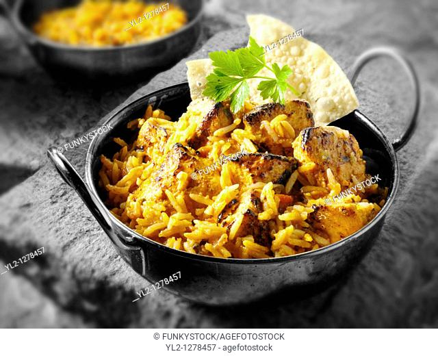 Chicken Tikka Byriani Indian food recipe