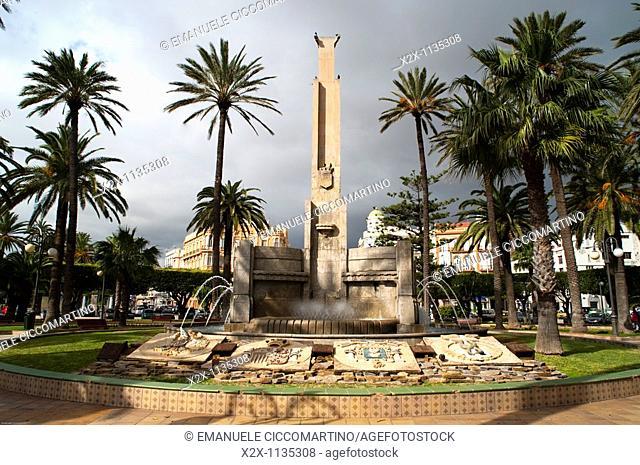 Fountain, Plaza de España, Melilla, Spain