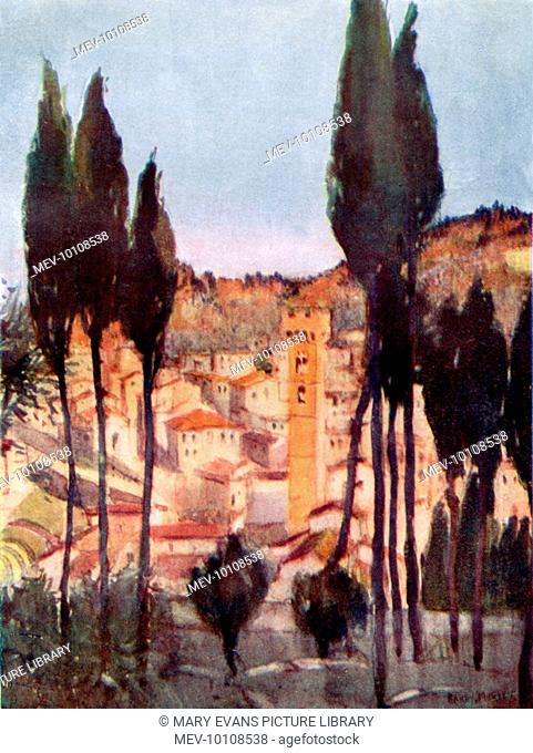 Fiesole, viewed from the hill under the monastery