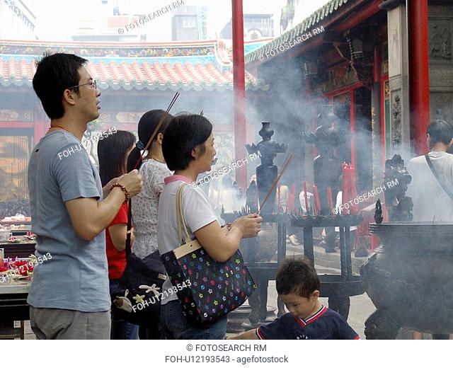 temple, people, lungshan, taiwan, person, love