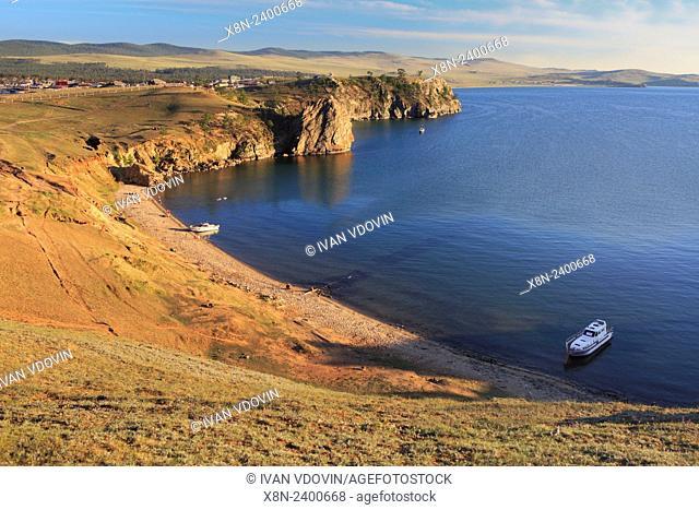 Olkhon island, landscape near Khuzhir, Baikal lake, Russia