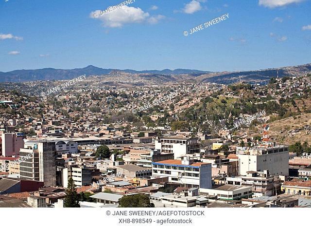 View of city from Parque La Leona, Tegucigalpa, Honduras