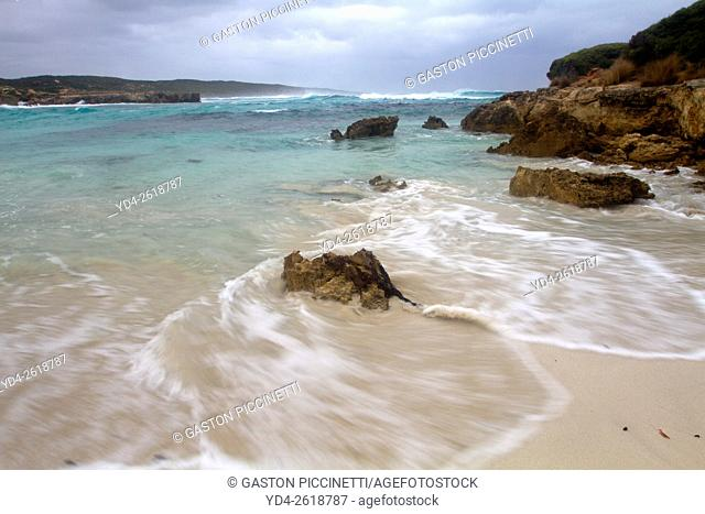 A peaceful beach in Vivone Bay, Kangaroo Island, South Australia, Australia