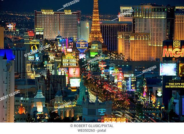Las Vegas strip. Nevada. USA