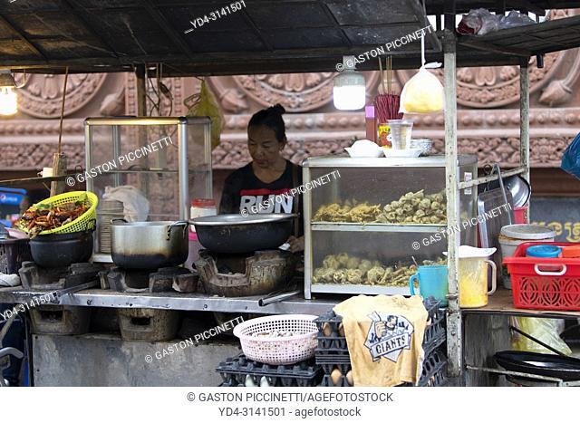 Street food stand, Pnom Penh, Kingdon of Cambodia