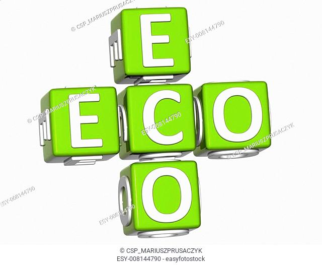 3D Bio Eco Text on white background