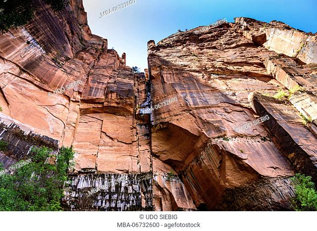 The USA, Utah, Washington county, Springdale, Zion National Park, Zion canyon, Upper Emerald Pools