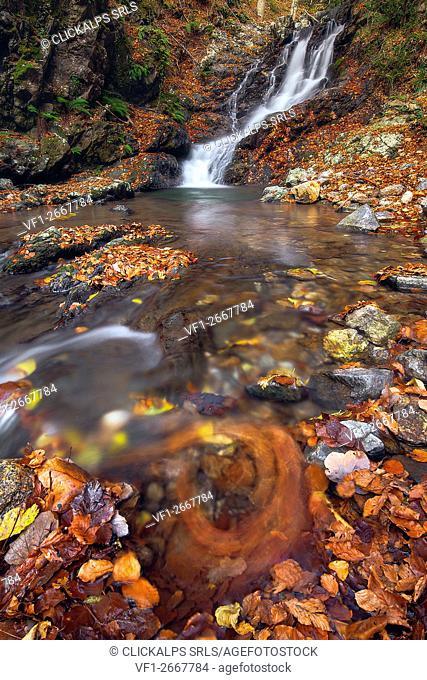 Faggi waterfall; Sila National Park, Sila, Catanzaro, Calabria, Italy,