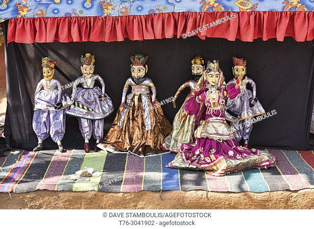 Kathputli, Rajasthani string puppet theatre, Udaipur, Rajasthan, India
