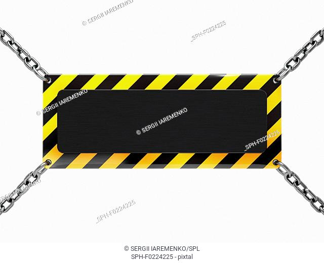Warning sign, illustration