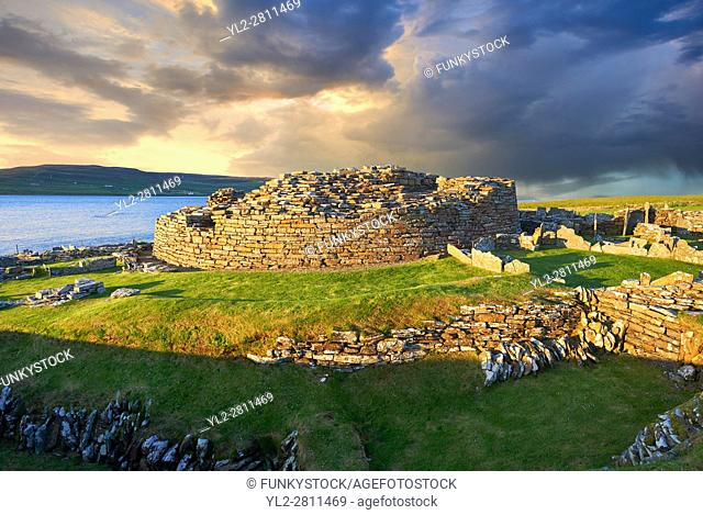 The Broch of Gurness is a rare example of a well preserved iron age Broch village. Dating from 500 to 200BC the central round tower probably reached 10 meters...