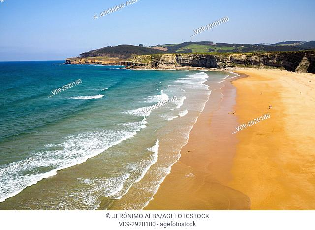 Langre beach, Ribamontan al Mar, Trasmiera coast. Cantabrian Sea. Cantabria Spain. Europe