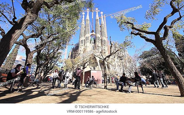 Church, La Sagrada Familia, Barcelona, Spain, Europe