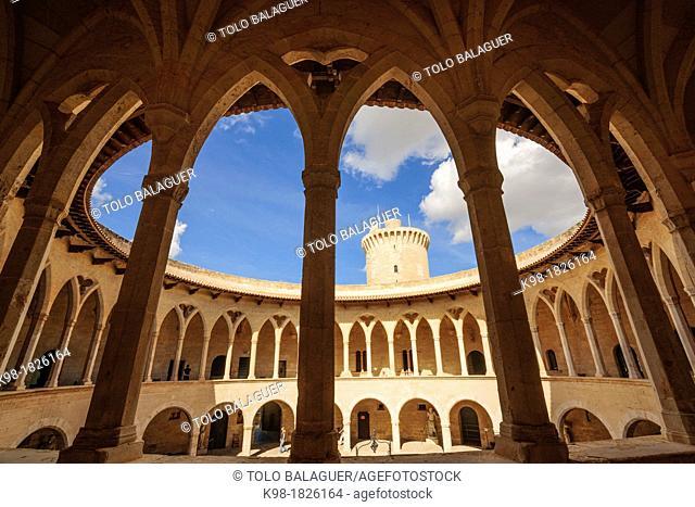 Circular cloister, Bellver Castle, - XIV century -, Palma de Mallorca Mallorca Balearic Islands Spain