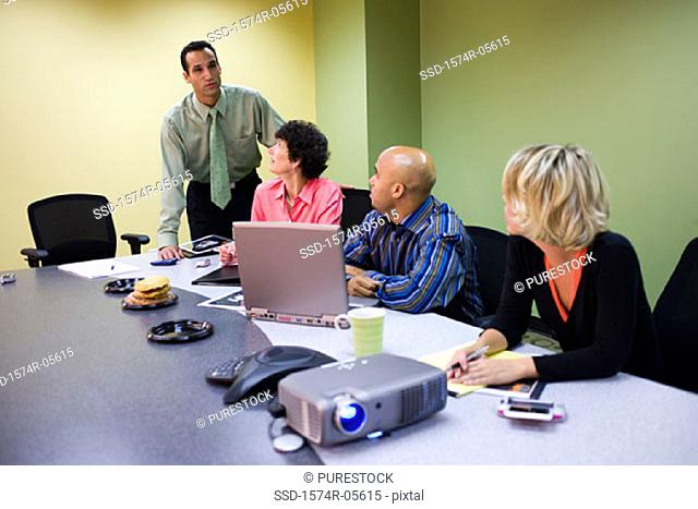 Group of business executives in a conference