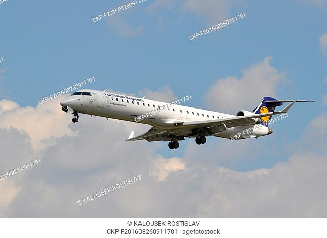 Airliner Bombardier CRJ 900 Lufthansa in Prague, Czech Republic, 2016. (CTK Photo/Rostislav Kalousek)