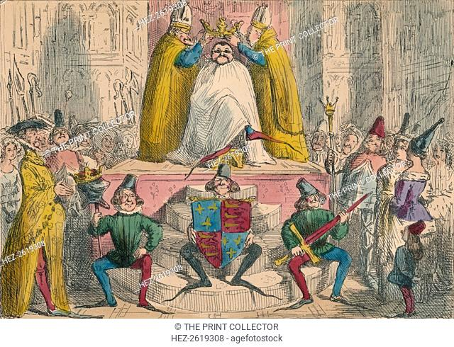 Coronation of Henry the Fourth (from the best authorities), 1850. Artist: John Leech