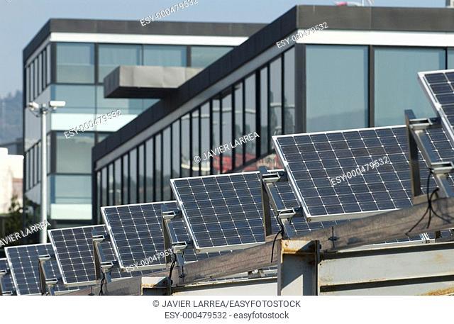 Solar panels. Technological Park. Zamudio, Bizkaia. Euskadi