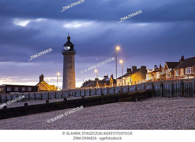 Evening at Kingston Lighthouse in Shoreham-by-Sea, West Sussex, England
