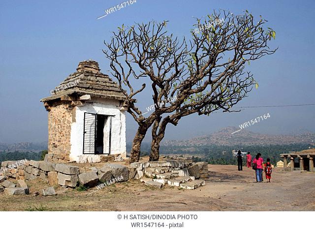 Hanuman temple in Hampi at Karnataka India Asia