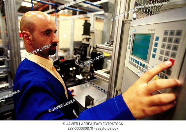 Automotive industry. Car parts manufacturing. Assembly line control