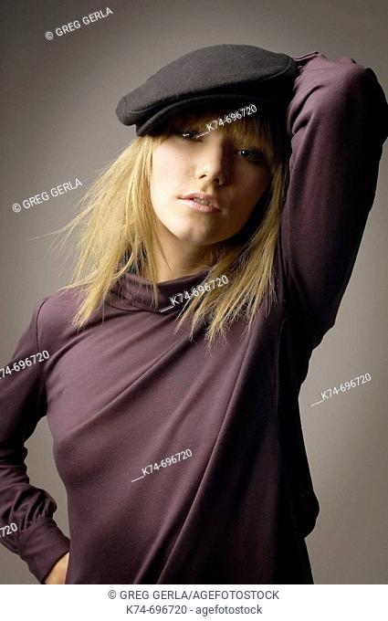 Fashion image of young woman