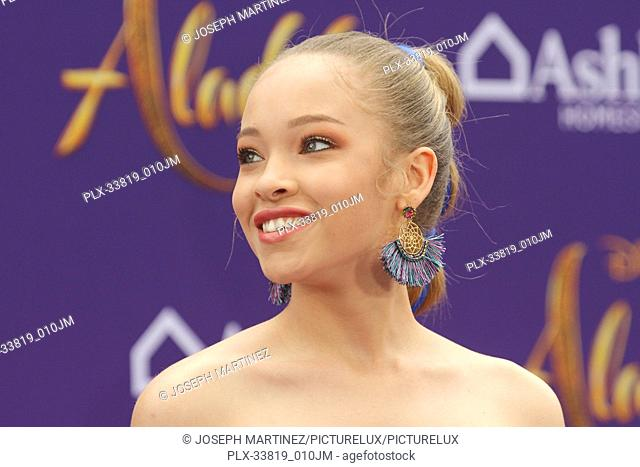 """Shelby Simmons at The World Premiere of Disney's """"""""Aladdin"""""""" held at El Capitan Theatre, Hollywood, CA, May 21, 2019. Photo Credit: Joseph Martinez / PictureLux"""