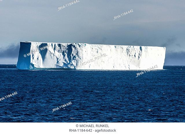 Large iceberg floating in the Weddell Sea, Antarctica, Polar Regions