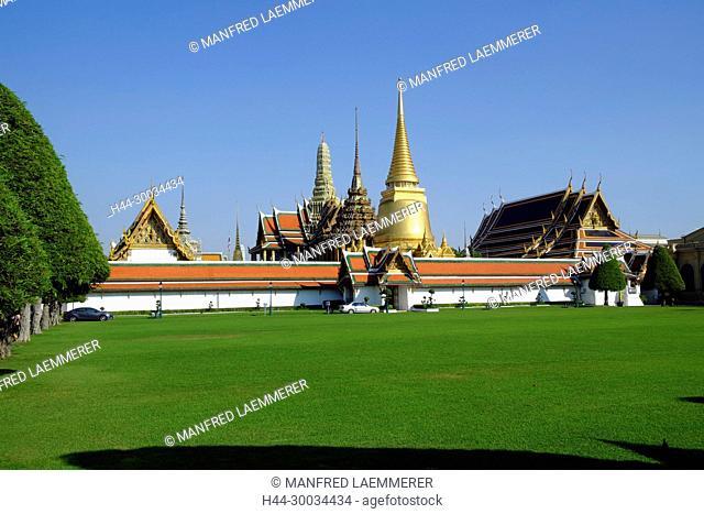 Asien, Thailand, Bangkok, Phra Sri Rattana Chedi im Königspalast Wat Phra Kaeo