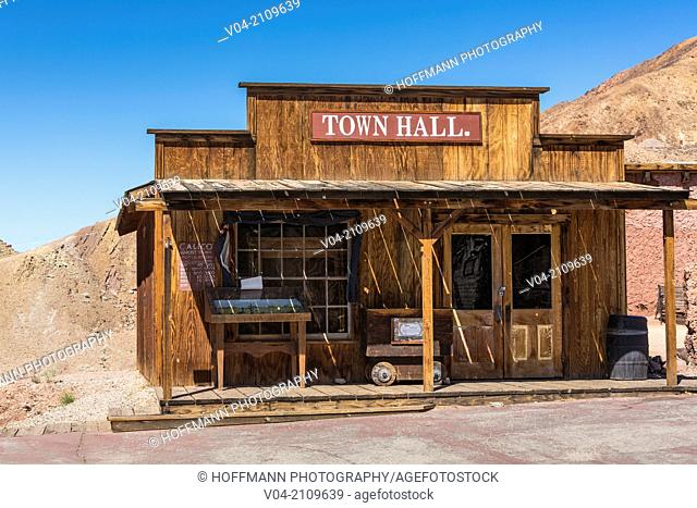 Historic Town Hall in Calico Ghost Town, California, USA