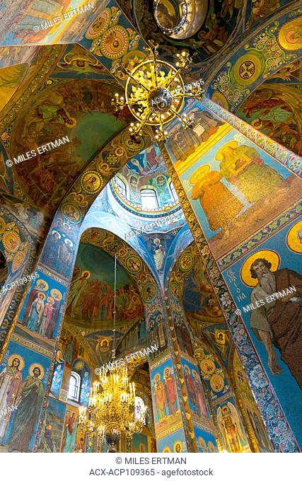 Ceiling of the Church on the Spilled Blood, Saint Petersburg, Russia