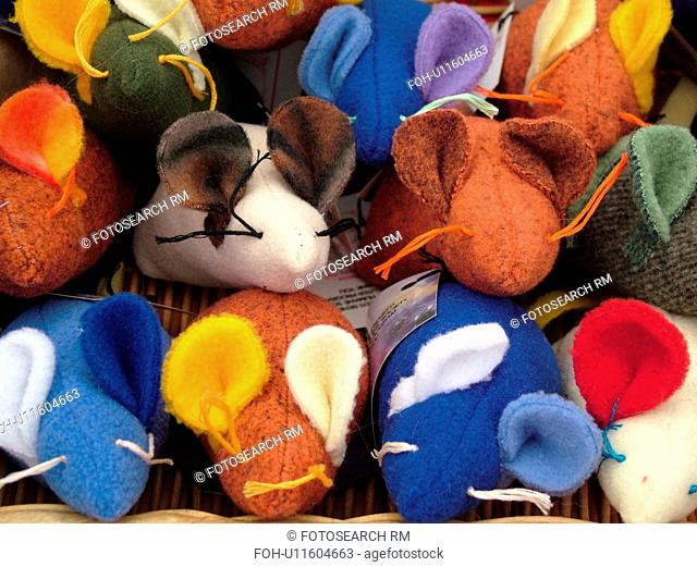 Montpelier, VT, Vermont, Farmer's Market, Hand-made mice, cat toys